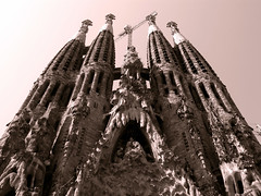 Templo Sagrada Familia; Temple Sacred Family.- (ancama_99(toni)) Tags: street leica old city family vacation urban espaa house holiday color building art church monochrome yellow familia sepia architecture buildings geotagged temple lumix photography photo spain espanha europa europe cityscape cross cathedral photos religion cityscapes modernism catedral photographic catalonia panasonic artnouveau gaudi temples gaud artdeco catalunya highfive iglesias sagradafamilia espagne sagrada modernismo templo barcellona catalua barcelone amateurs modernisme pasoscatalans 2007 urbanas 1000views urbanscapes catedrales antonigaud catalogne belleepoque sacredfamily 123bw fz7 dmcfz7 abeauty p1f1 holidaysvacanzeurlaub ancama99