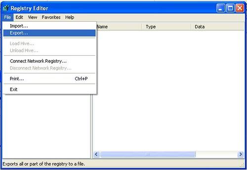Export registry