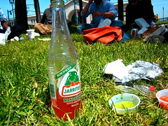 almost heaven (petebeck) Tags: sf friends sun hot lunch spring warm coworkers salsa burrito jarritos panchovilla justinhermanplaza jhp snapperburrito