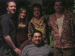 Tim, Hoku Ho, Don Ho, Steve and James. (05/2002)
