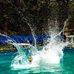 Splash! (ole) Tags: paris france me water pool swimming myself spring jump europe background v instant splash caughtintheact eole colloc explored abigfave ole bestofr chauffeurdeflickr