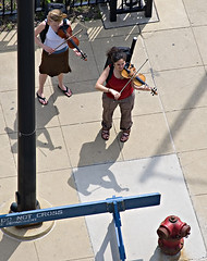 Fiddle About (swanksalot) Tags: shadow musician music chicago us strangers il menatwork violin fiddle haymarket mayday faved swanksalot sethanderson