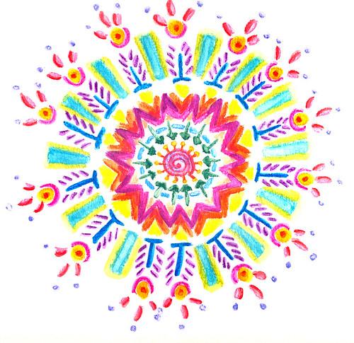0407 Neocolor II Watercolor Mandala