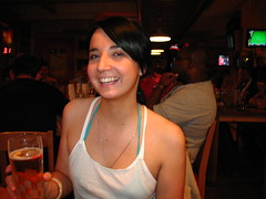 Day 182: Me In Hooters - by Alice Harold