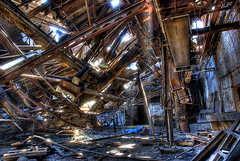 Collapse the Light Into Earth (~EvidencE~) Tags: wood newyork rotting buffalo rust collapse evidence porcupinetree locationx industrydecay thanksdee