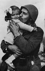 View Greek Soldier Holding his Daughter, WWII ca. 1940-41 (LOC) on Flickr