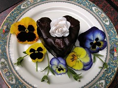 Happy Mothers Day! (ineedathis) Tags: flowers autumn love gum dessert baking heart sweet chocolate paste delicious pastry wildflowers mothersday chocolatemoose darkchocolate naturesfinest lenoxchina pancy abigfave