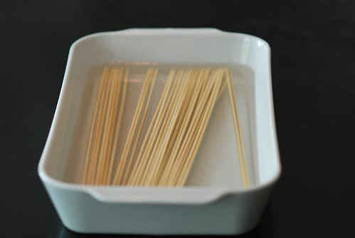 Why do I need to soak wooden skewers?