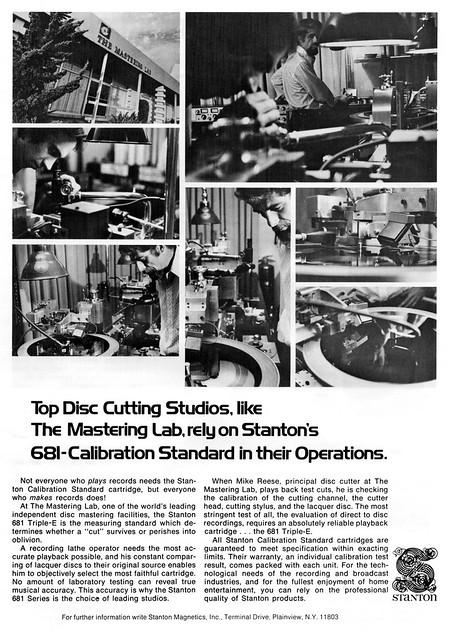 Mastering Lab Stanton 1975