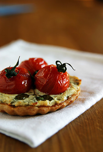 Goat Cheese, Cherry Tomato & Herb Tart