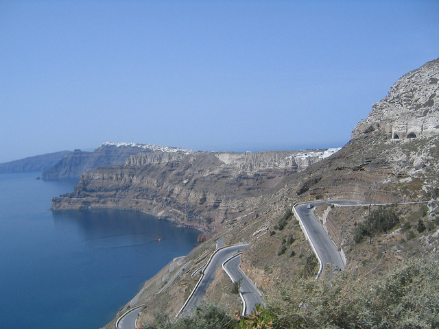 Santorini - Harbor Road
