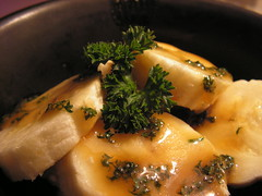 Bananas with Butterscotch Parsley Sauce