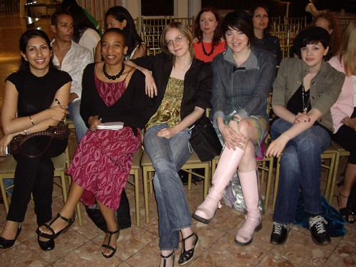 bloggers in the front row