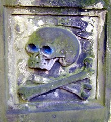 Old Blue Eyes (Davy Ellis) Tags: skull edinburgh headstone tombstone churchyard crossbones kirkyard momentimori grayfriars