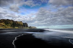 Black Sand Beaches of Iceland (Karnevil) Tags: beach nature blacksand iceland scenic vik hdr naturesfinest instantfave flickrsbest abigfave shieldofexcellence