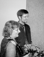 Engagement party (John Althouse Cohen) Tags: bw wisconsin ben lynn madison engagementparty