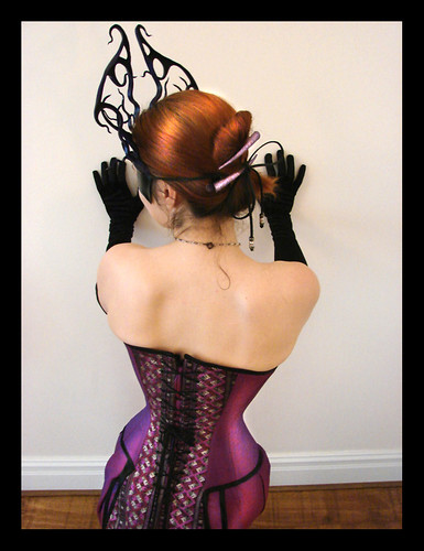 Corset with Tails. Back close up.
