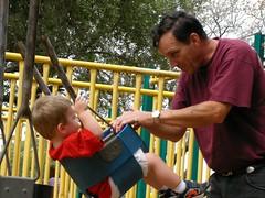 swings with grandpa
