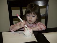 Marissa Coloring Piggy Bank