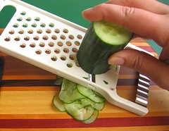 Prep for quick cucumber salad (#1)