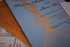 Kate & Jason's wedding invitations (Heatherjeany) Tags: wedding gocco invitation etsy custom stationery heatherjeany