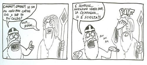 Gimli e Gandalf