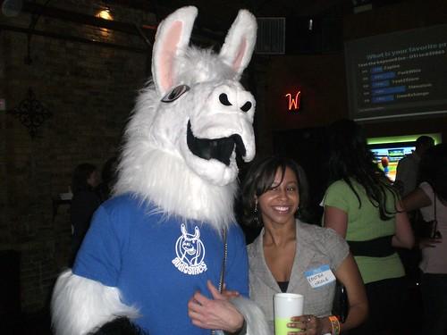 Kristen Nicole and a Llama