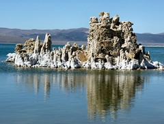 Tufa One (P-Kittye) Tags: california lake reflection water mono rocks towers geology monolake tufa calcite continuum caco3 tufatowers anawesomeshot pkittye