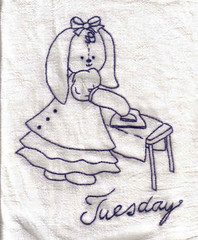 Bunnies Teatowel Tuesday