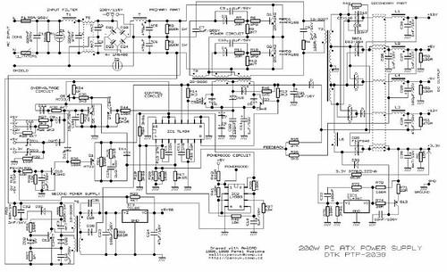 Pin Atx 180w Tl494 400w Power Supply Elektronik Devreler