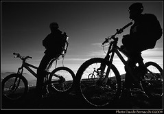 Moon Bikers (bunello) Tags: travel italy snow mountains alps travelling tourism 2004 sport top mountainbike peak journey alpi orobie lombardia touring nikonf80 1835mmf3545d farno ciclografia cyclography