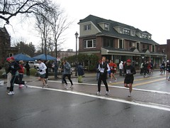 Mike at Mile 14 of the Boston Marathon