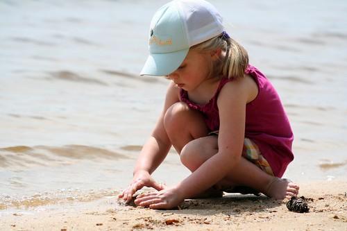 sophia in the sand