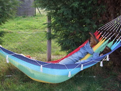 Hammock Success - Originally uploaded by Damian Cugley