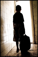 denied (.ash) Tags: door school light boy silhouette education war child refugee iraq amman photojournalism jordan doorway denied