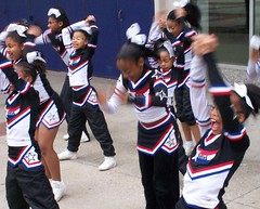Cheerleaders Practicing (Bill A) Tags: cheerleaders baltimore enthusiasm flickrchallengegroup practicetoimproveskills common_threads:topic=61