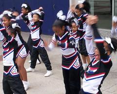 Cheerleaders Practicing (Bill A) Tags: cheerleaders baltimore enthusiasm flickrchallengegroup practicetoimproveskills common_threads:topic=61