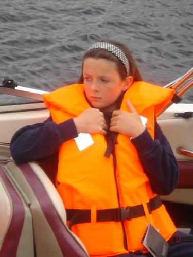 Lara on the boat