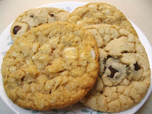White Chocolate Macadamia Nut and Chocolate Chip Cookies