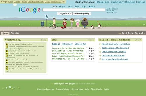 iGoogle skinned