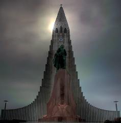 Lost in Iceland (Karnevil) Tags: church iceland stitch religion hallgrimskirkja reykjavik hdr flickrsbest abigfave p1f1 bratanesque flickrelite leiferíkson