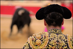 watching the bullfight (S. Lo) Tags: barcelona espaa spain catalonia toros catalunya catalua bullfighting torero espanya lamonumental pfohiddengem thechallengefactory