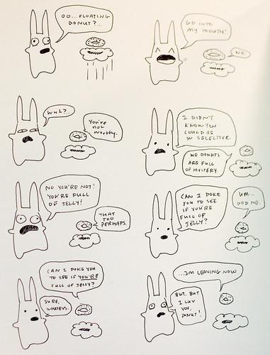I doodled in Lee Anne's notebook