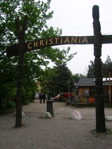 Entrada en Christiania