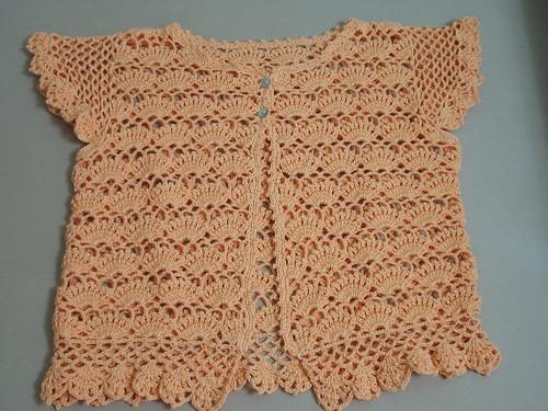 Orangey Crochet Top
