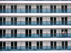 Cruise ship (Josh Clark) Tags: cruise blue windows favorite grid ship greece corfu