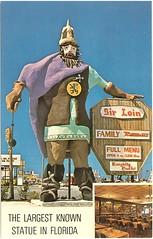 Sir Loin Family Restaurant statue, Front Beach Rd, Panama City Beach, Florida (stevesobczuk) Tags: statue florida americana roadside panamacitybeach miraclestrip redneckriviera vintagepostcards us98 frontbeachrd sirloinfamilyrestaraunt