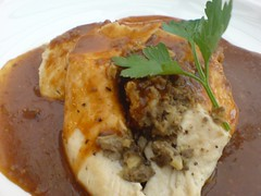 chicken stuffed with haggis