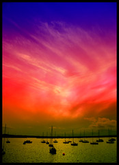 Colour storm over Dun Laoghaire port (Michal Osmenda) Tags: ireland copyright sun europa europe colours forsale sale explore getty cheap allrightsreserved irlanda irlande irlandia explored leurope photoforsale bestsun printfordagmara