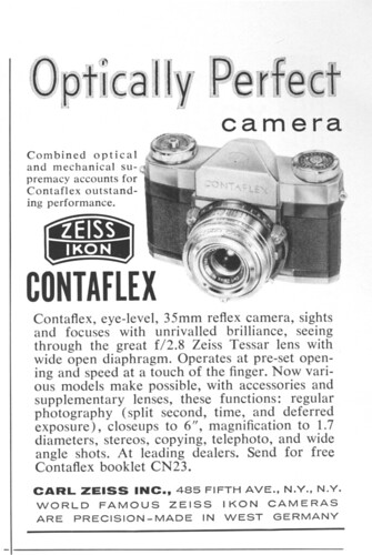Contaflex ad in National Geographic, January 1958